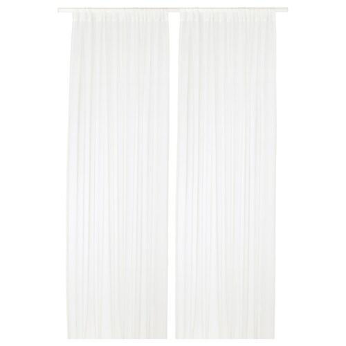 TERESIA florlette gardiner, 1 par hvit 250 cm 145 cm 2.30 kg 3.63 m² 2 stk.