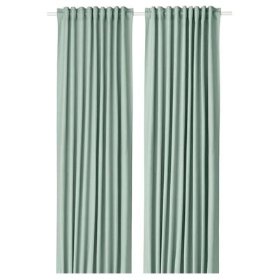 TIBAST Gardiner, 1 par, grønn, 145x250 cm