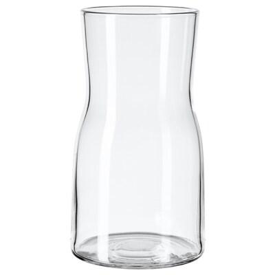 TIDVATTEN vase klart glass 17 cm