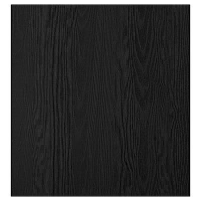 TIMMERVIKEN dør svart 60 cm 64 cm 2.0 cm