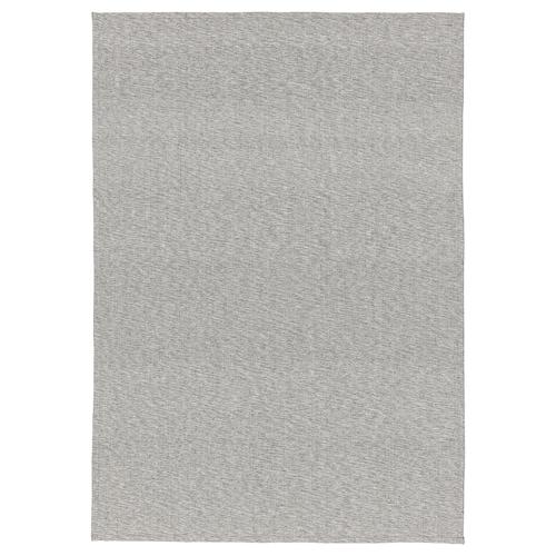 TIPHEDE teppe, flatvevd grå/hvit 220 cm 155 cm 2 mm 3.41 m² 700 g/m²