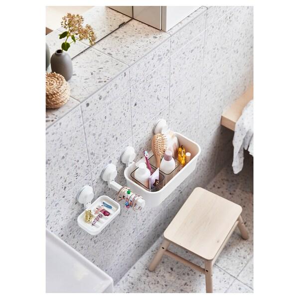 TISKEN Toalettrullholder med sugekopp, hvit