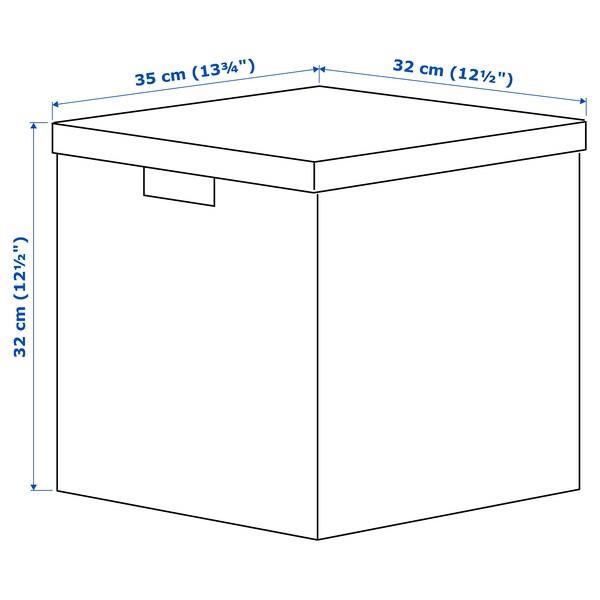 TJENA Eske med lokk, hvit, 32x35x32 cm