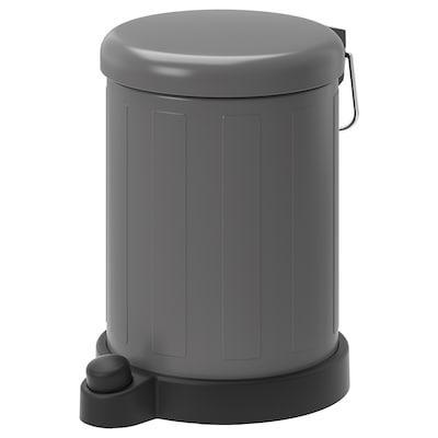 TOFTAN Avfallsbøtte, grå, 4 l