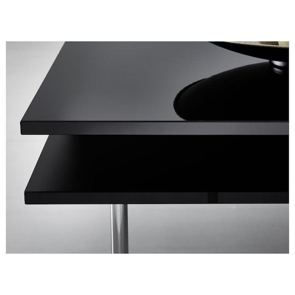 TOFTERYD Bord, høyglans svart, 95x95 cm