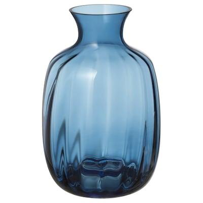 TONSÄTTA vase blå 21 cm