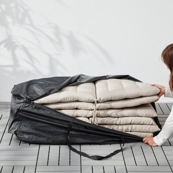 TOSTERÖ Bag til puter, svart, 116x49 cm