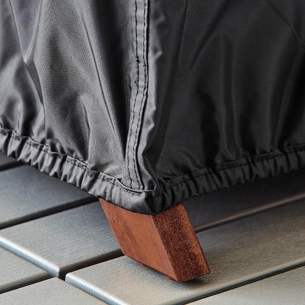 TOSTERÖ Trekk til møbelsett, svart, 215x135 cm