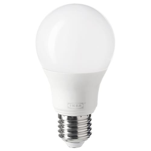 TRÅDFRI LED-pære E27 806 lumen kan dimmes trådløst varmhvit/globe opalhvit 806 lm 2700 K 11 cm 60 mm 8.9 W