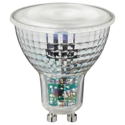 TRÅDFRI LED-pære GU10 345 lumen, kan dimmes trådløst farge og varmhvit til kaldhvit