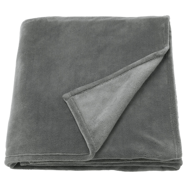 TRATTVIVA Sengeteppe, grå, 230x250 cm