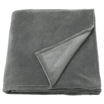 TRATTVIVA Sengeteppe, grå, 150x250 cm