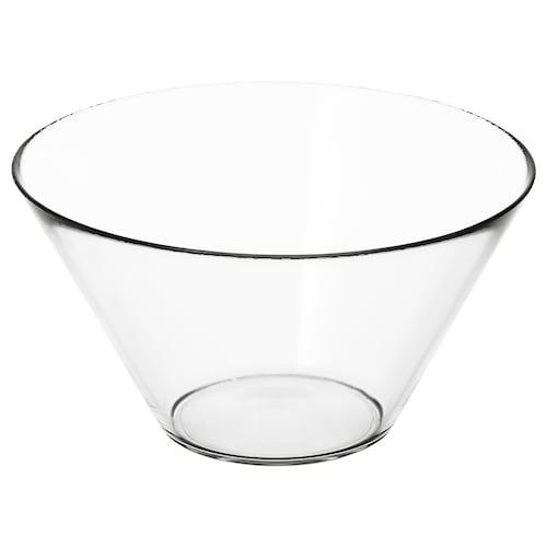 TRYGG serveringsbolle klart glass 15 cm 28 cm