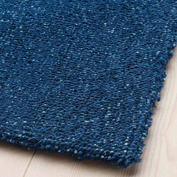 TYVELSE Teppe, kort lugg, mørk blå, 200x300 cm