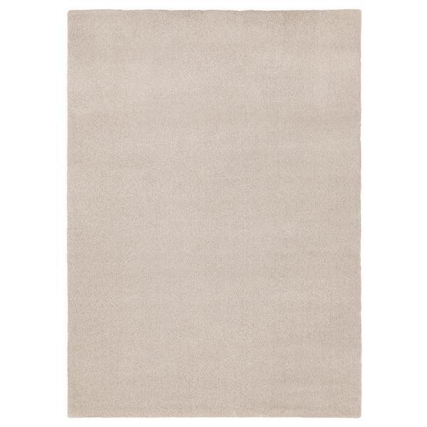 TYVELSE Teppe, kort lugg, offwhite, 170x240 cm