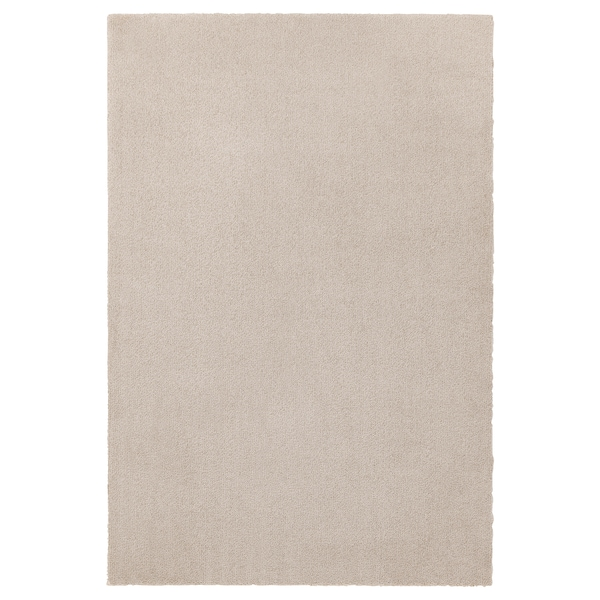 TYVELSE Teppe, kort lugg, offwhite, 133x195 cm