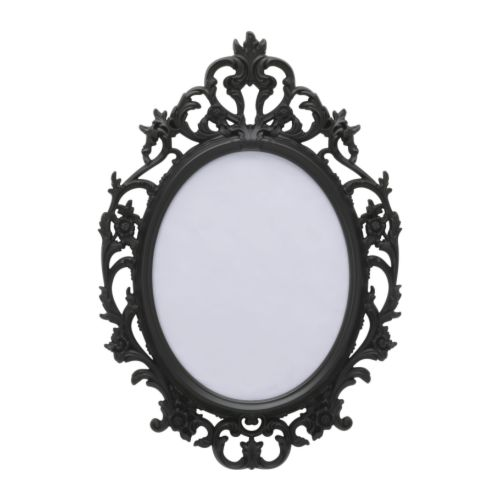 UNG DRILL Ramme, oval, svart Bredde: 59 cm Høyde: 85 cm Bilde, bredde: 40 cm Bilde, høyde: 50 cm