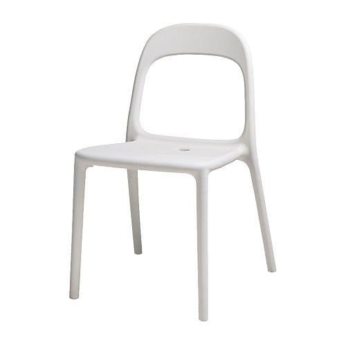 URBAN Stol IKEA Kan stables, plassbesparende når den ikke er i bruk.