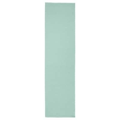 UTBYTT Løper, lys turkis, 35x130 cm