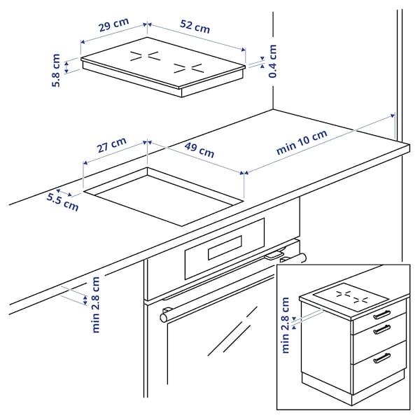 VÄLBILDAD Induksjonstopp, IKEA 300 svart, 29 cm