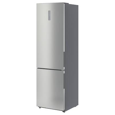 VÄLGÅNG Kjøl/fryseskap, IKEA 700 frittstående/rustfritt stålfarge, 246/83 l