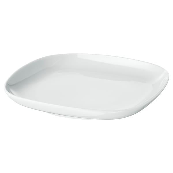 VÄRDERA asjett hvit 18 cm 18 cm