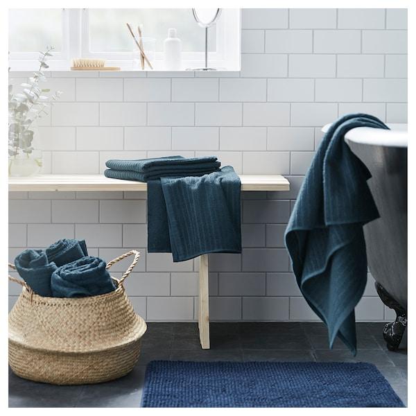 VÅGSJÖN badelaken mørk blå 150 cm 100 cm 1.50 m² 400 g/m²