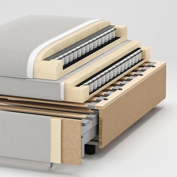 VALLENTUNA 2-seters modulsofa med 2 senger, Hillared beige