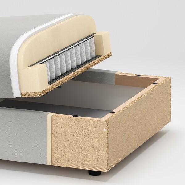 VALLENTUNA 2-seters modulsofa med seng, og oppbevaring/Kelinge antrasitt