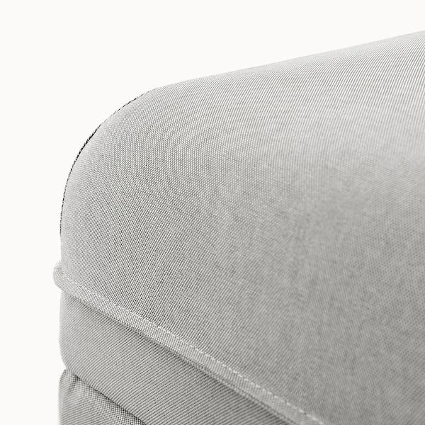 VALLENTUNA sittemodul med oppbevaring Orrsta lys grå 80 cm 80 cm 45 cm