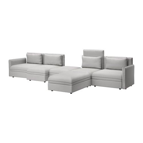Vallentuna 5 Seters Sofa Med Seng Orrsta Lys Gr 229 Ikea