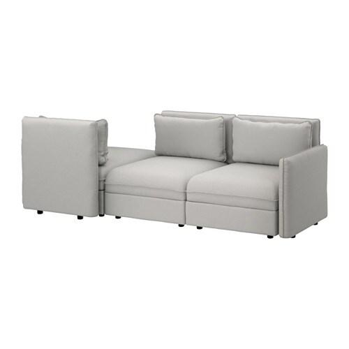 VALLENTUNA 3-seters sofa med seng IKEA Legg til, ta bort og endre ...