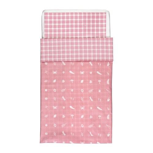 VANDRING SKOG Sengesett til sprinkelseng , rosa Dynetrekk lengde: 125 cm Dynetrekk bredde: 110 cm Putetrekklengde: 55 cm Putetrekkbredde: 35 cm