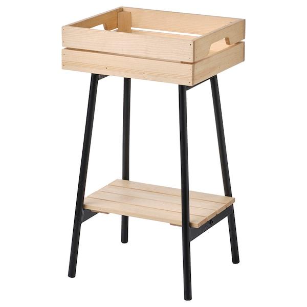 VANILJSTÅNG Pidestall, furu/svart, 55 cm