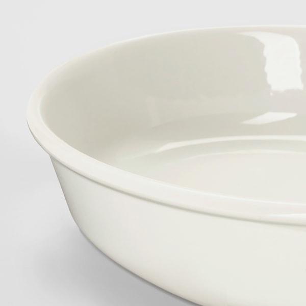 VARDAGEN Ovnsform, oval/offwhite, 26x21 cm