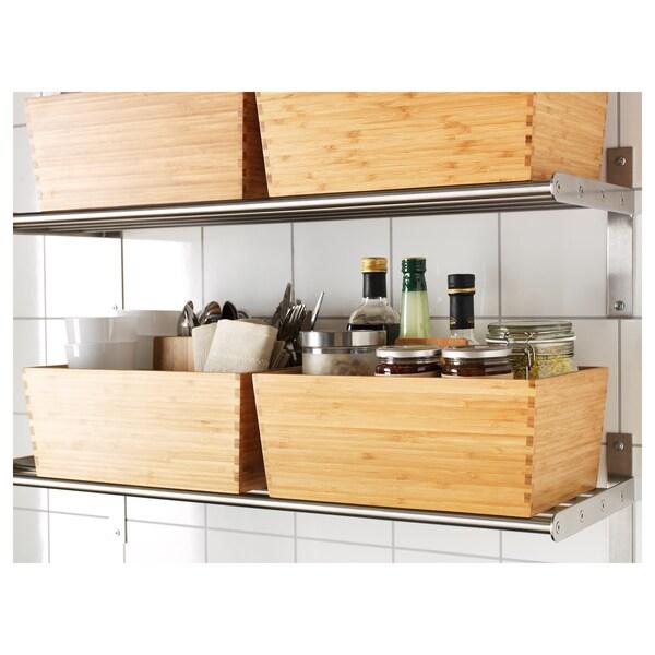 VARIERA kasse med håndtak bambus 33 cm 24 cm 16 cm