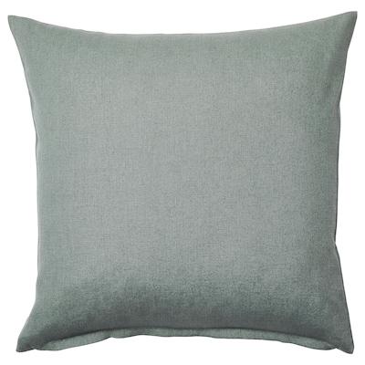 VIGDIS Putetrekk, blekgrønn, 50x50 cm