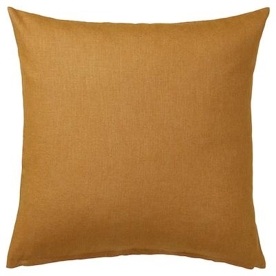 VIGDIS Putetrekk, mørk gyllenbrun, 50x50 cm