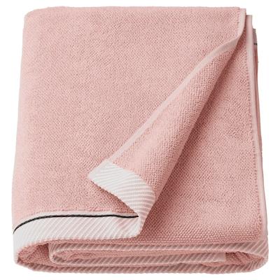 VIKFJÄRD Badelaken, lys rosa, 100x150 cm
