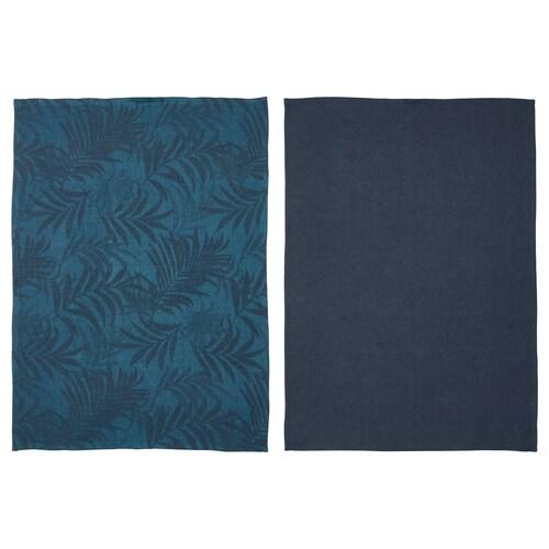 VILDKAPRIFOL kjøkkenhåndkle blå blader 70 cm 50 cm 2 stk.