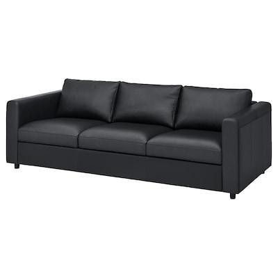 VIMLE 3-seters sofa, Grann/Bomstad svart
