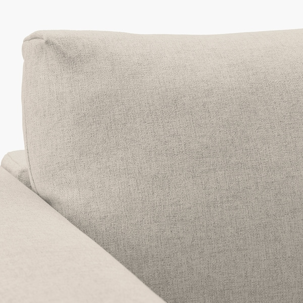 VIMLE 3-seters sofa med sjeselong, med nakkestøtte/Gunnared beige