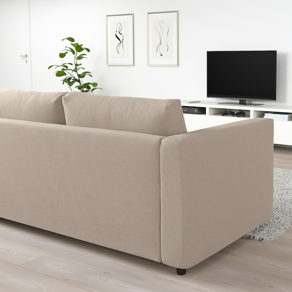 VIMLE 3-seters sofa, Tallmyra beige