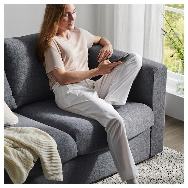 VIMLE 4-seters sofa, med sjeselong/Gunnared mellomgrå