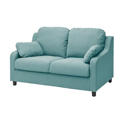 VINLIDEN 2-seters sofa, Hakebo lys turkis
