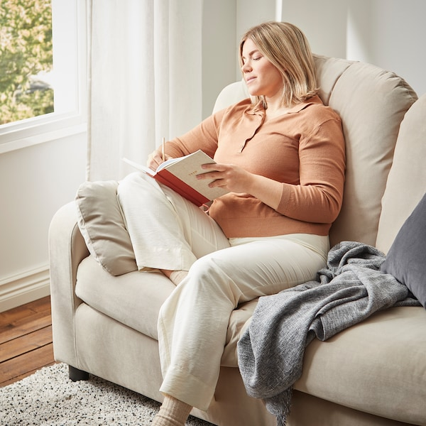 VINLIDEN 3-seters sofa, Hakebo beige