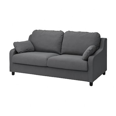 VINLIDEN 3-seters sofa, Hakebo mørk grå