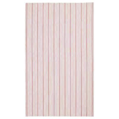 VINTER 2020 Duk, stripet rød/hvit, 145x240 cm