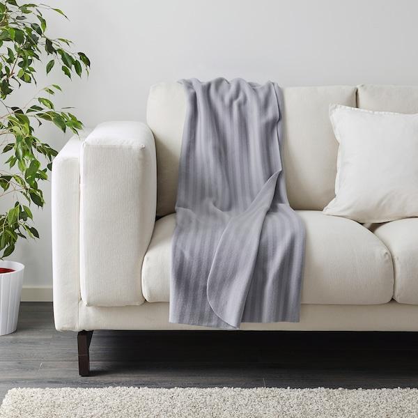 VITMOSSA pledd grå 160 cm 120 cm