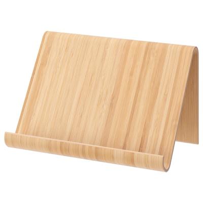 VIVALLA nettbrettstøtte bambusfiner 26 cm 16 cm 17 cm